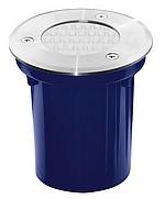 Kit SPOTS  ronds INOX - à sceller/encastrer  - Blanc chaud 3000 K - diamètre 100 mm