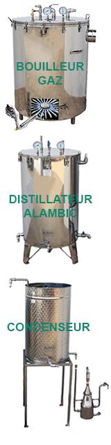 ALAMBICS INOX GAZ - 300 à 1000 LITRES