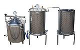 ALAMBICS DISTILLATEUR INOX SPBG GAZ - 35-50+70+90-200-500  LITRES - MULTIFONCTIONS - 3 méthodes