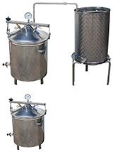 ALAMBICS INOX MULITPLANTES  - gaz - 3 CUVES pour des capacités différentes