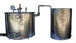 ALAMBICS INOX SP-R-B - 150 -200 LITRES -fond flamme GAZ - Permet aussi distillation roses (hydrolats)
