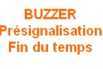Options  PRESIGNALISATION par BUZZER