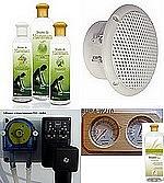 Kits confort : diffuseur arômes + arômes + haut-parleurs + thermomètre/hygromètre