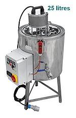 CUVE chauffage ELECTRIQUE 25 litres - double paroi eau + melangeur électrique