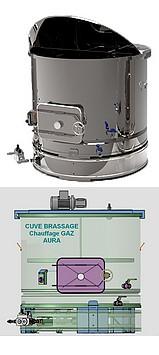CUVE chauffage GAZ 200 à 800 Litres - Brassage