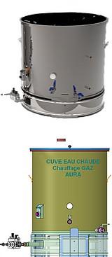CUVE EAU CHAUDE - chauffage GAZ - 100 à 800 litres