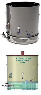 CUVE chauffage GAZ -  100 à 800 litres - Ebullition