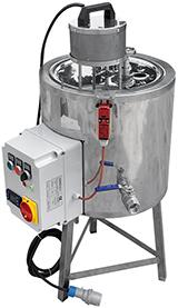 CUVE chauffage ELECTRIQUE  25-50 litres - double paroi eau + melangeur