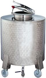 Futs INOX mobiles 290 et 500 litres avec trappe de fermeture