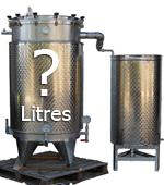 CAPACITE de l'alambic distillateur (en litres) GAMME PRO