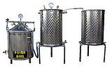 DISTILLATEUR  ALAMBIC SPCV + BOUILLEUR  chauffé au BOIS - 3 méthodes de distillation