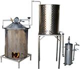DISTILLATEUR  ALAMBIC SPCH  chauffés au BOIS - 2 méthodes de distillation