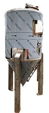 FERMENTEUR  CYLINDRO CONIQUE  INOX  CIP  - 300 à 2000 Litres - isolés - aavec refroidissement
