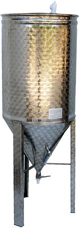 FERMENTEUR CYLINDRO CONIQUE INOX 304L - 60 à 300 Litres -épaisseur 8/10 eme mm