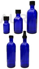 FLACONS en VERRE BLEU 15ml, 50ml, 100ml ou 200 ml pour huiles essentielles