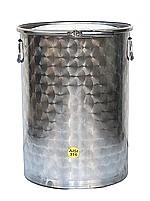 RESERVOIRS INOX 316 - 10/10 -ème - Avec couvercle ETANCHE  + joint + cerclage