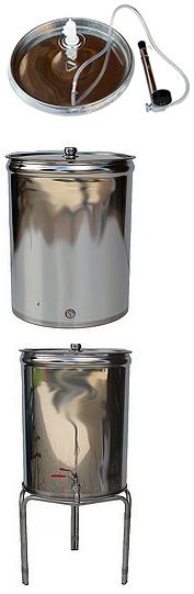 FUTS RESERVOIR INOX  304 alimentaire  - 50 à 150 litres - Fond plat