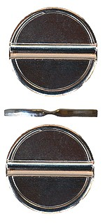Jetons nickelés 26 mm - 1+1 strie