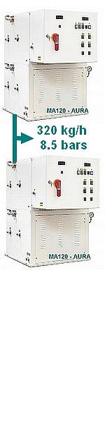 GENERATEUR VAPEUR MA 240 - 130 à 240 kw -  200 à 320 kg/h - 8,5 bars