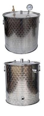CUVES  INOX GAZ + couvercle + joint + piquages - 30 à 200L