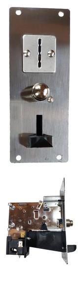MONNAYEURS pour JETON - avec plaque INOX ou PVC (à encastrer)