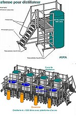PLATEFORMES D'ACCES en ALU pour  DISTILLATEURS 1000 litres