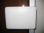 Poignée PVC blanche porte basique - charniere - bavette