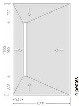 SOLS HAMMAM  avec écoulement type RIGOLE - 4 PENTES -accès PMR