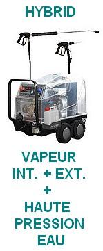 STEAM POWER PLUS HYBRID -VAPEUR + HAUTE PRESSION EAU.