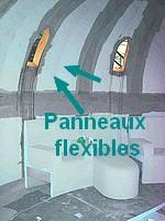 PANNEAUX STRIEES HAMMAMS déformables pour réaliser les courbes  les voutes tunnel du hammam, les banquettes au bords arrondis du hammam , les douches rondes
